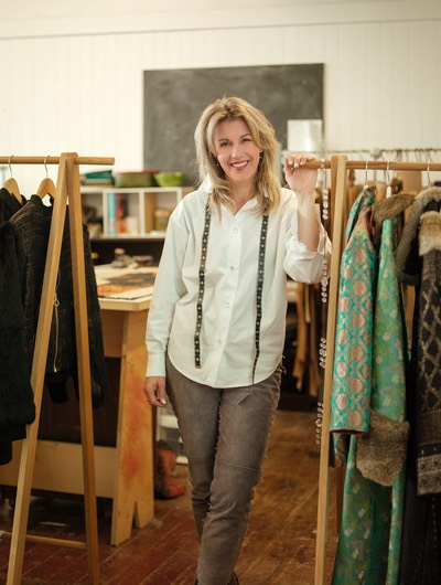 Fur fashion designer Jane Avery of Lapin bespoke luxury heirloom coats