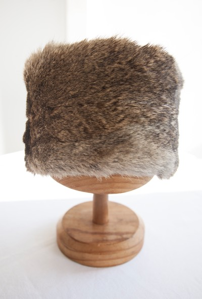 New Zealand wild rabbit eco fur Russian style hat
